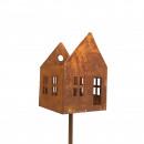 Metal plug house open, H170cm, B19x19cm rust